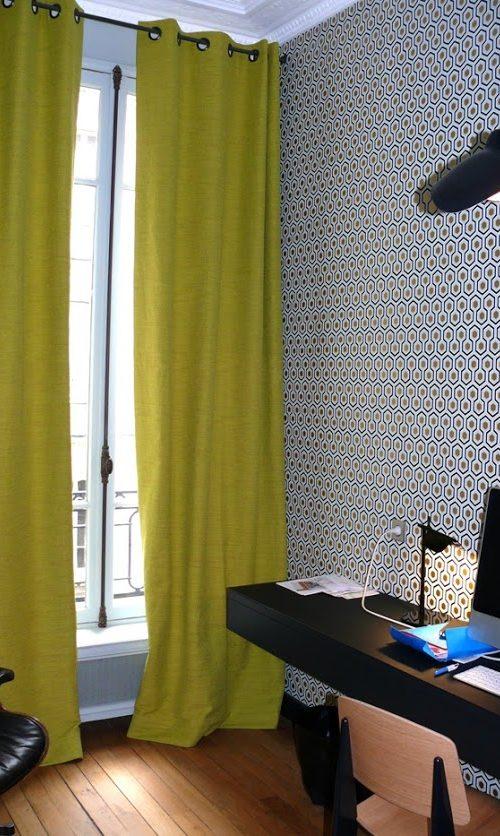Conception de rideaux - tissu Casamance