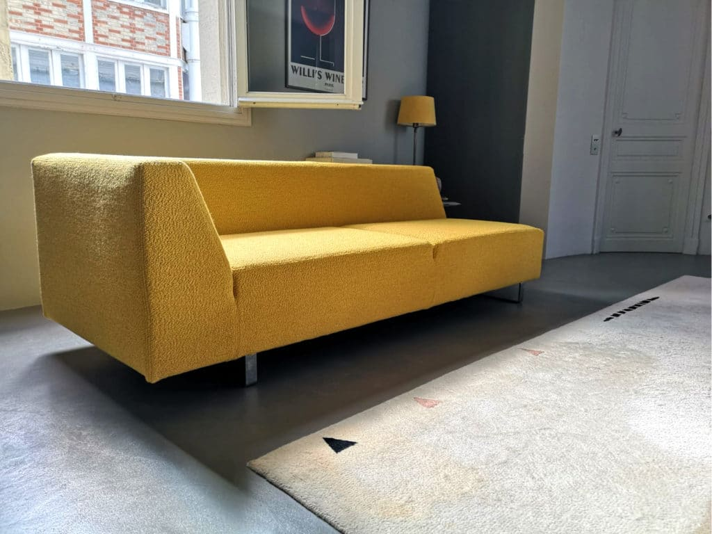 Revêtement de canapé sur mesure en version dehoussable