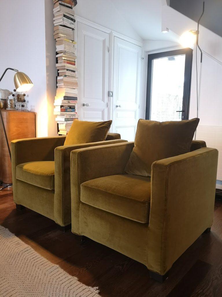 Housse de fauteuil en velours