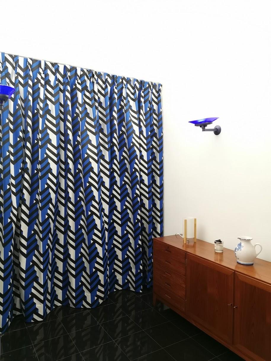confection de rideaux sur mesure, tissu Kheops Ocean de Métaphores